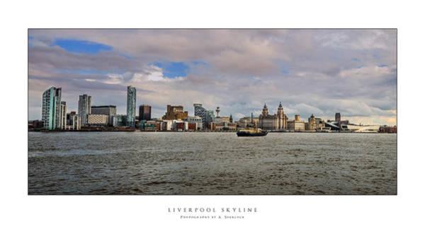 Liverpool Skyline Digital Art - Liverpool Skyline by Alan Sherlock