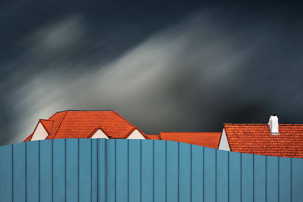Selective Color Photograph - Living Behind The Fence by Gilbert Claes