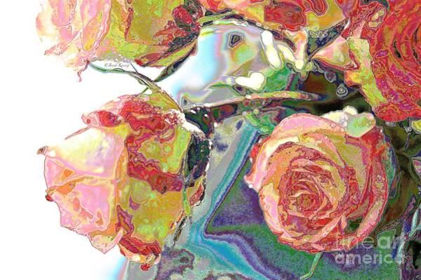 Bright Colours Mixed Media - Living Blossom by Janal Koenig