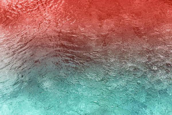 Multi Media Photograph - Living Coral Swimming Pool by Efetova