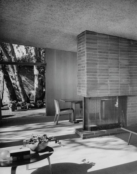 Wall Photograph - Living-dining Room By Carl Louis Maston by Julius Shulman