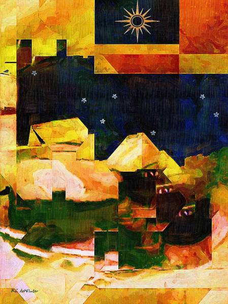 Painting - Living In The Global Village by RC DeWinter