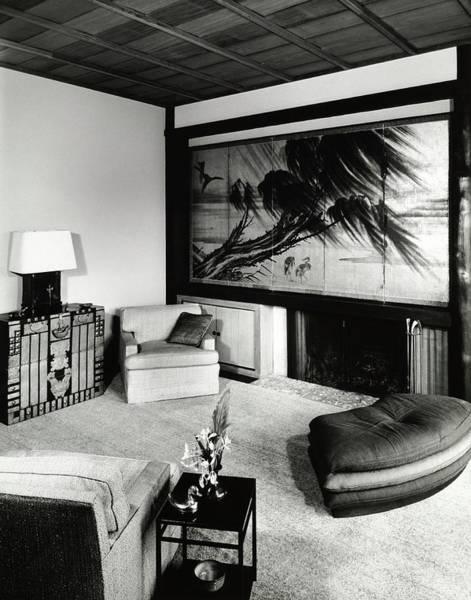 Screen Photograph - Living Room In House Of J Scott B Pratt IIi by Pedro E. Guerrero