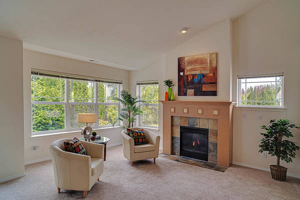 Lenses Photograph - Living Room Real Estate Photography by Mike Reid