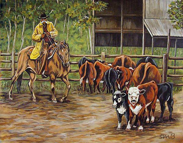 Bergstrom Painting - Living The Dream Babysitting by Susan Bergstrom