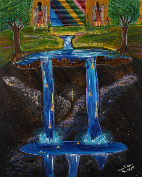 Boldness Painting - Living Water by Cassie Sears