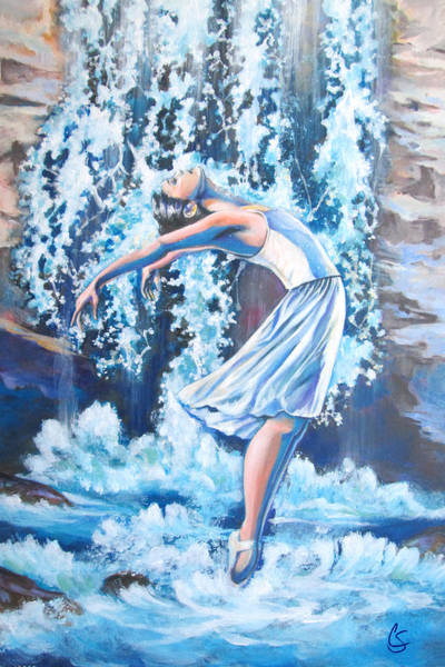 Wall Art - Painting - Living Water by Tamer and Cindy Elsharouni