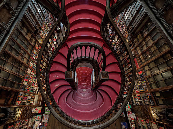 Book Shelf Photograph - Livraria Lello by #name?