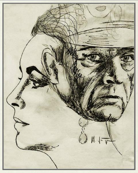 Drawing - Liz  And  Richard by Hartmut Jager