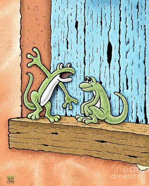 Lizards Digital Art - Lizard Lore by Cristophers Dream Artistry