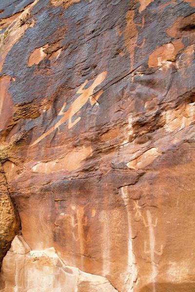 Desert Varnish Photograph - Lizard Petroglyphs On Sandstone by Jim West
