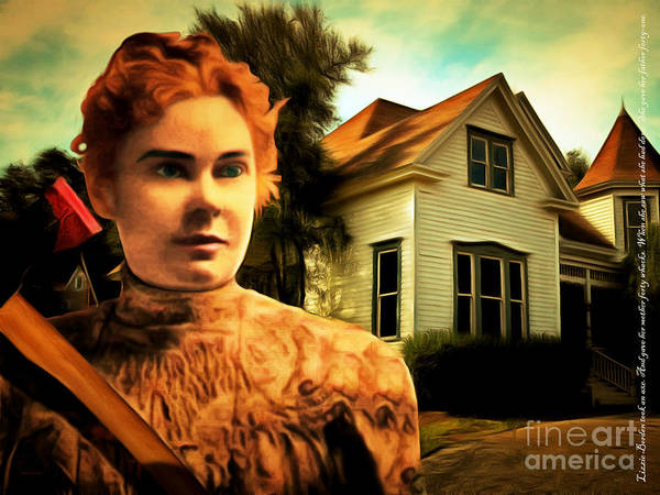 Photograph - Lizzie Borden Took An Ax 20141226 With Text by Wingsdomain Art and Photography