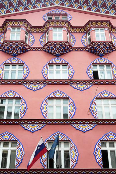 Ljubljana Wall Art - Photograph - Ljubljana, Slovenia. Facade by Panoramic Images