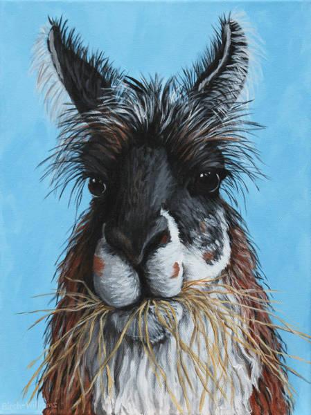 Painting - Llama Portrait by Penny Birch-Williams