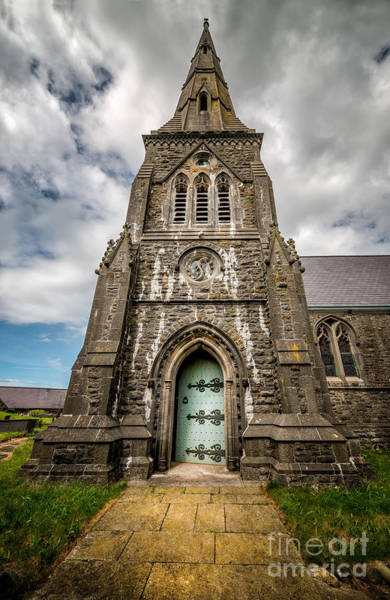 Hinges Photograph - Llandwrog Church  by Adrian Evans