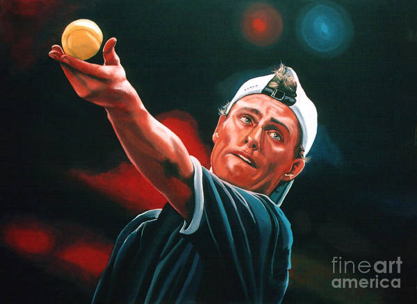 Concentration Wall Art - Painting - Lleyton Hewitt 2  by Paul Meijering