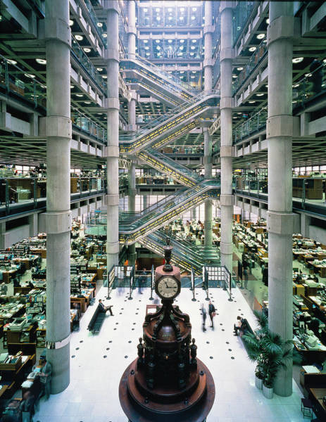 Wall Art - Photograph - Lloyd's Building by Alex Bartel/science Photo Library