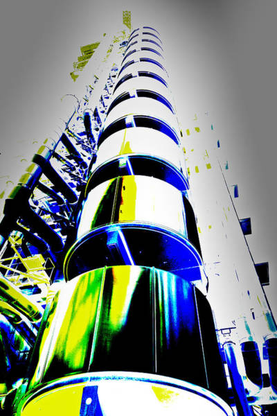 Square Mile Wall Art - Digital Art - Lloyd's Building London Art by David Pyatt