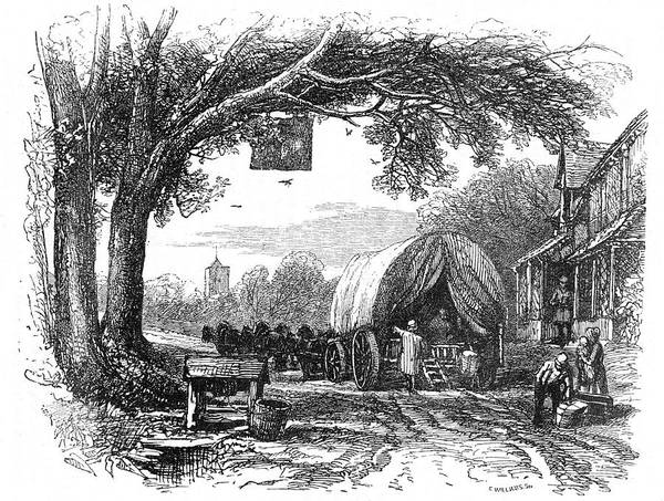 Wall Art - Drawing - Loading A Road Wagon          Date 18th by Mary Evans Picture Library