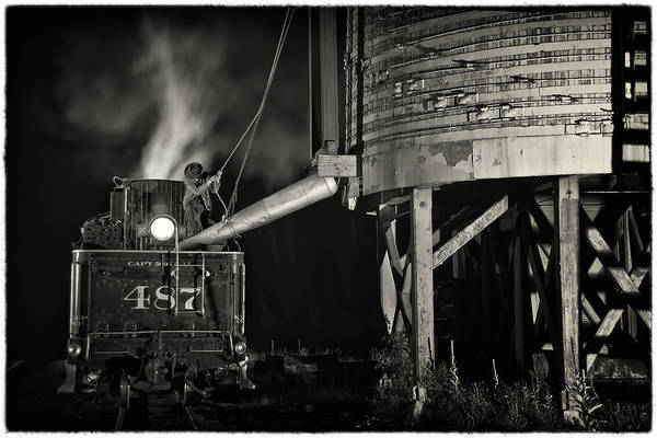 Chama Photograph - Loading Water At Chama Train Station by Priscilla Burgers