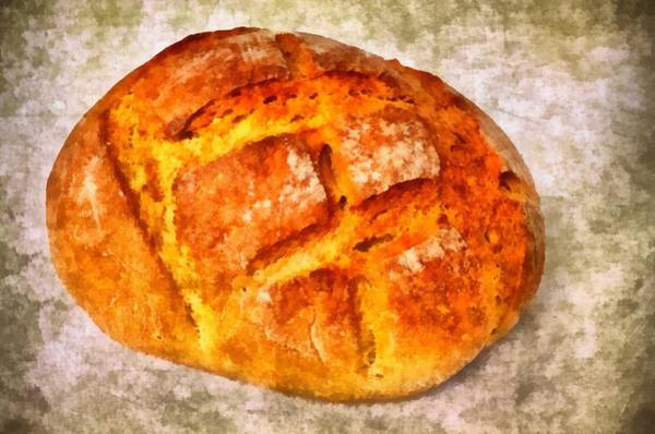 German Food Photograph - Loaf Of Bread by Matthias Hauser