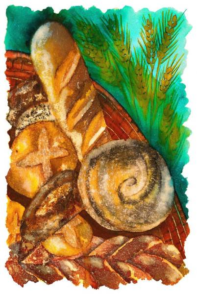 Loaves Of Bread Art Print by Tess Stone