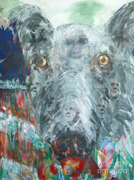 Hair Of The Dog Wall Art - Painting - Lobby Dogs by Thomas Dudas