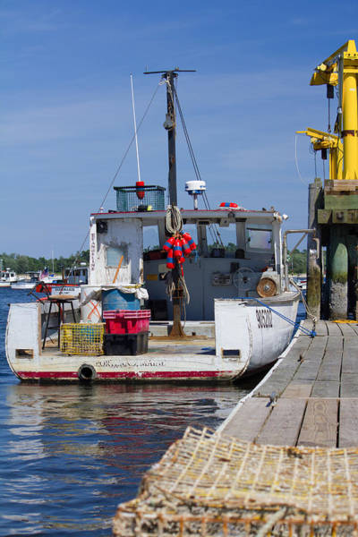 Photograph - Lobster Boat At The Dock by Kirkodd Photography Of New England