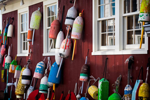 Wall Art - Photograph - Lobster Buoys  by Emmanuel Panagiotakis