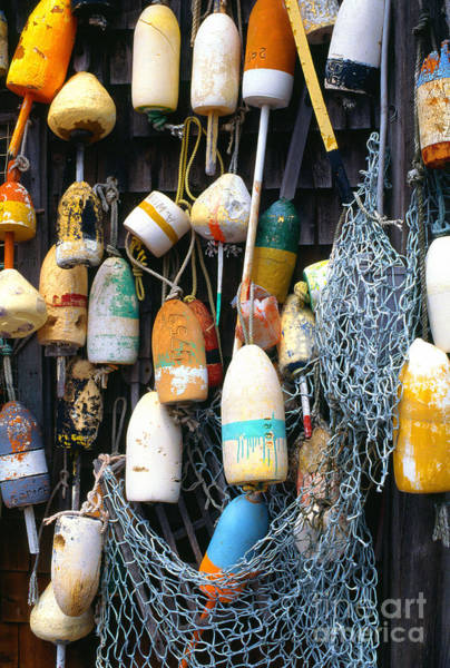 Photograph - Lobster Buoys Fishermans Shed by Thomas R Fletcher