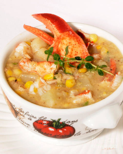 Wall Art - Photograph - Lobster Chowder With Corn And Poblano Peppers by Iris Richardson