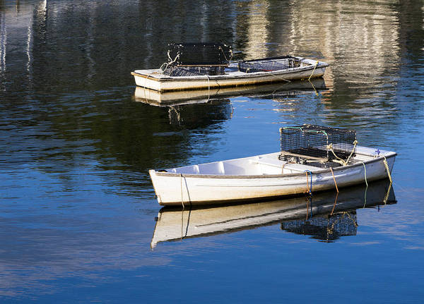 Lobstering Photograph - Lobster Dinghies - Perkins Cove - Maine by Steven Ralser