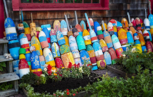 Wall Art - Photograph - Lobster Fishing Buoys by Susan Candelario