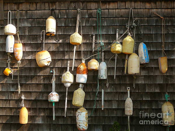 Squid Row Photograph - Lobster Floats  Menemsha by Matt Dana