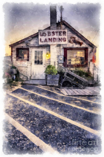 Lobster Photograph - Lobster Landing New England Lobster Shack by Edward Fielding