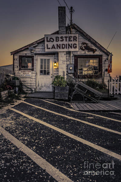Lobster Photograph - Lobster Landing Shack Restaurant At Sunset by Edward Fielding