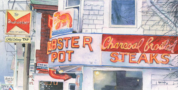 Neon Sign Painting - Lobster Pot II by Heidi Gallo