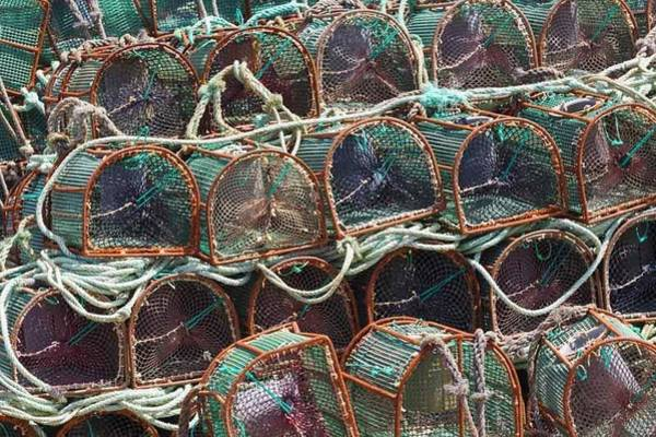 Galicia Photograph - Lobster Pots, Galicia, Spain by Ken Welsh