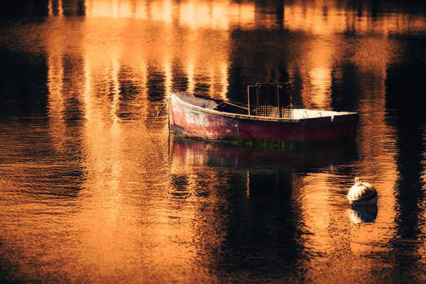 Lobstering Photograph - Lobstermans Dinghy Rockport Ma by Jeff Folger