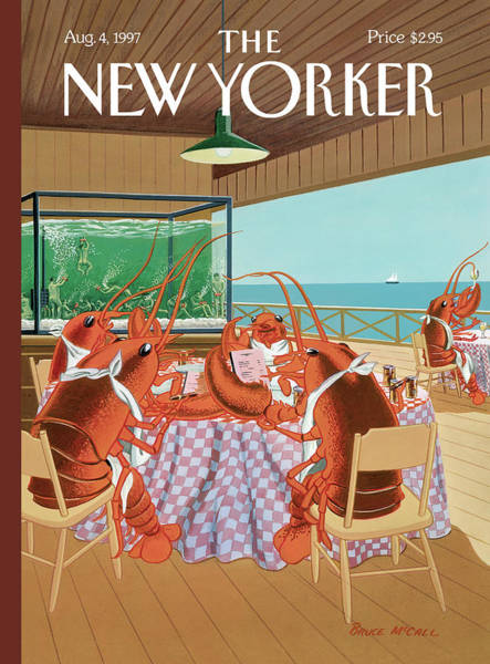 Restaurant Painting - Lobsterman's Special by Bruce McCall