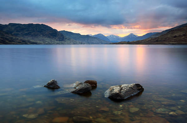 Photograph - Loch Arklet Sunset by Grant Glendinning