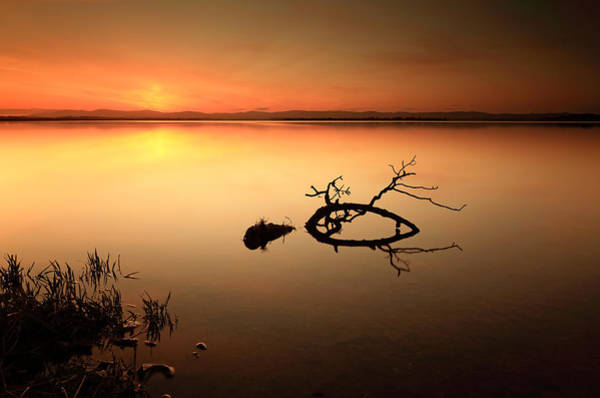 Photograph - Loch Leven Sunset by Grant Glendinning
