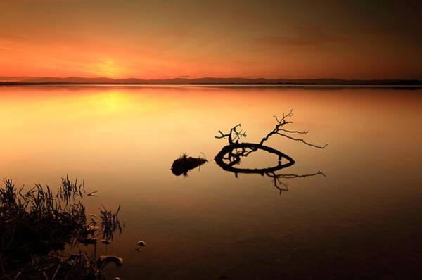Photograph - Loch Leven Sunset by Grant Glendinning