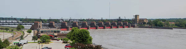 Wall Art - Photograph - Lock And Dam No. 15 On The Mississippi by Panoramic Images