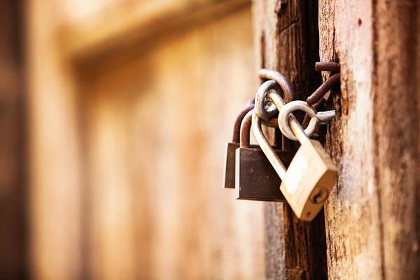 Lock Gates Photograph - Lock Down by Susan Schmitz