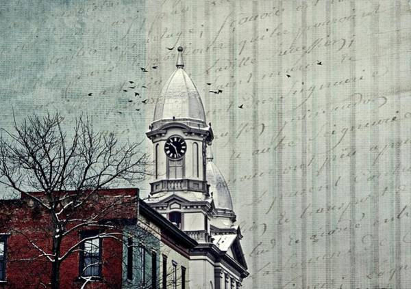 Lock Haven Wall Art - Photograph - Lock Haven Courthouse Clock by Stephanie Calhoun
