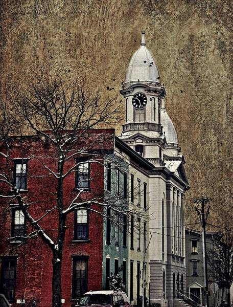 Lock Haven Wall Art - Photograph - Lock Haven Courthouse Clock Vertical  by Stephanie Calhoun