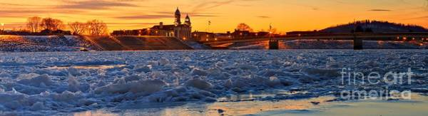 Lock Haven Wall Art - Photograph - Lock Haven Pennsylvania Winter Sunset by Adam Jewell