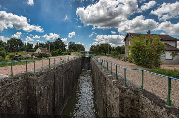 Wall Art - Photograph - Lock On Canal De Roanne by Keith Hutchings