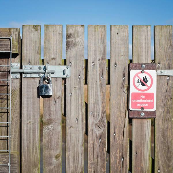 Boundaries Wall Art - Photograph - Locked Gate by Tom Gowanlock